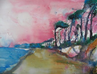 Weststrand, Aquarell 56/76 cm, Andreas Mattern, 2012