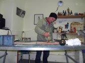 Andreas Mattern im Atelier, Berlin, 2012