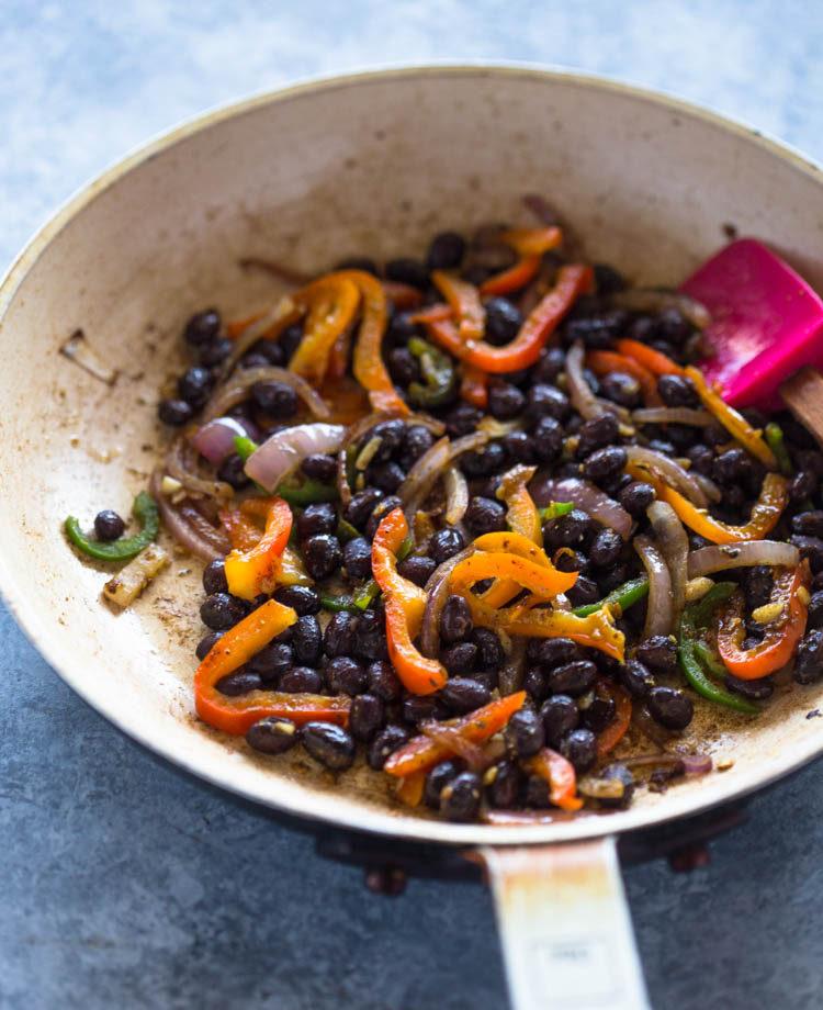 Avocado Black Bean Quesadillas