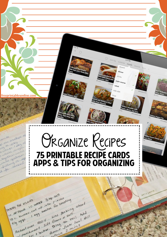 Great tips & app suggestions for organizing recipes!