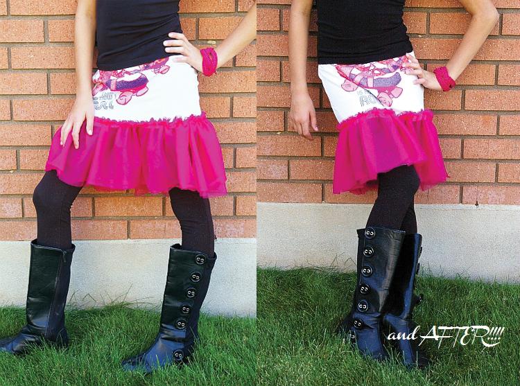 DIY t-shirt skirt
