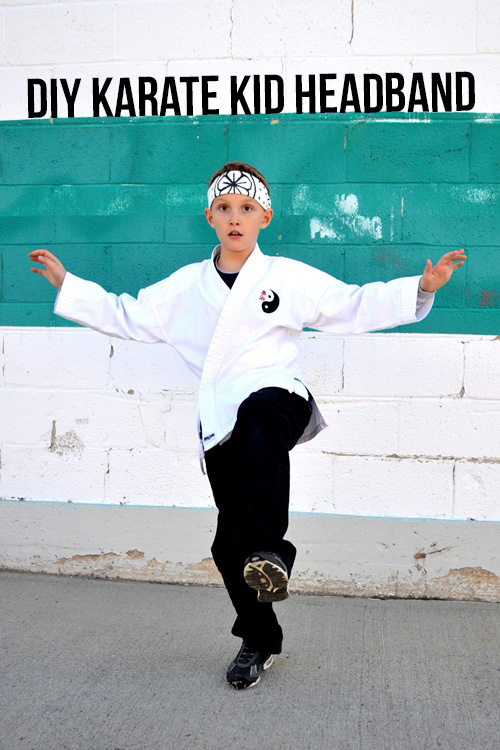 Make an easy Karate Kid headband