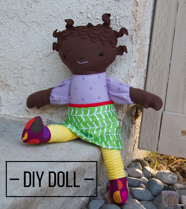 Make you own doll! Learn how to do hair like this.
