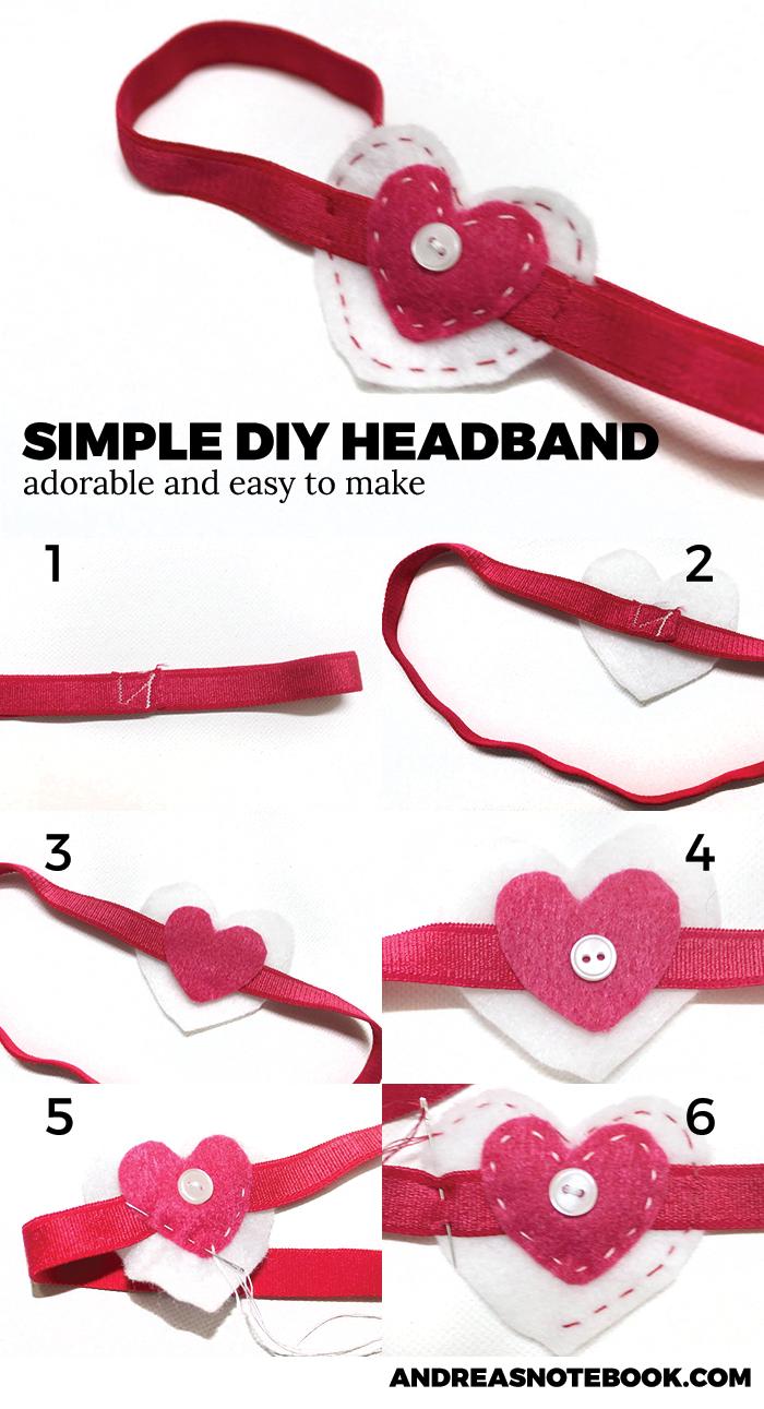 DIY heart headband tutorial