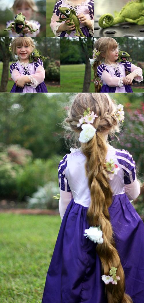 DIY Rapunzel dress