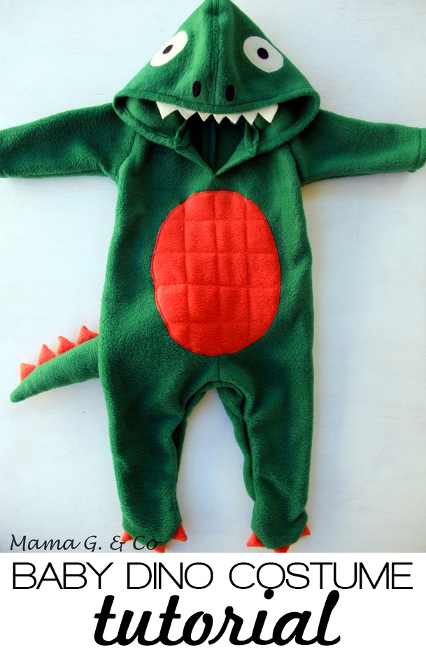 Baby Dinosaur costume tutorial