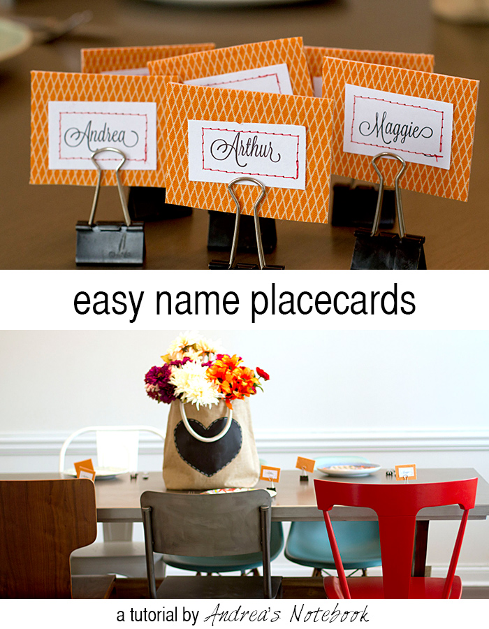Easy name placecards tutorial