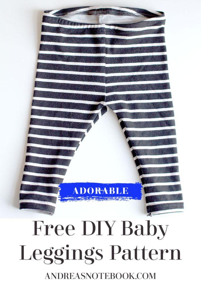 Free DIY Baby Leggings Sewing Pattern