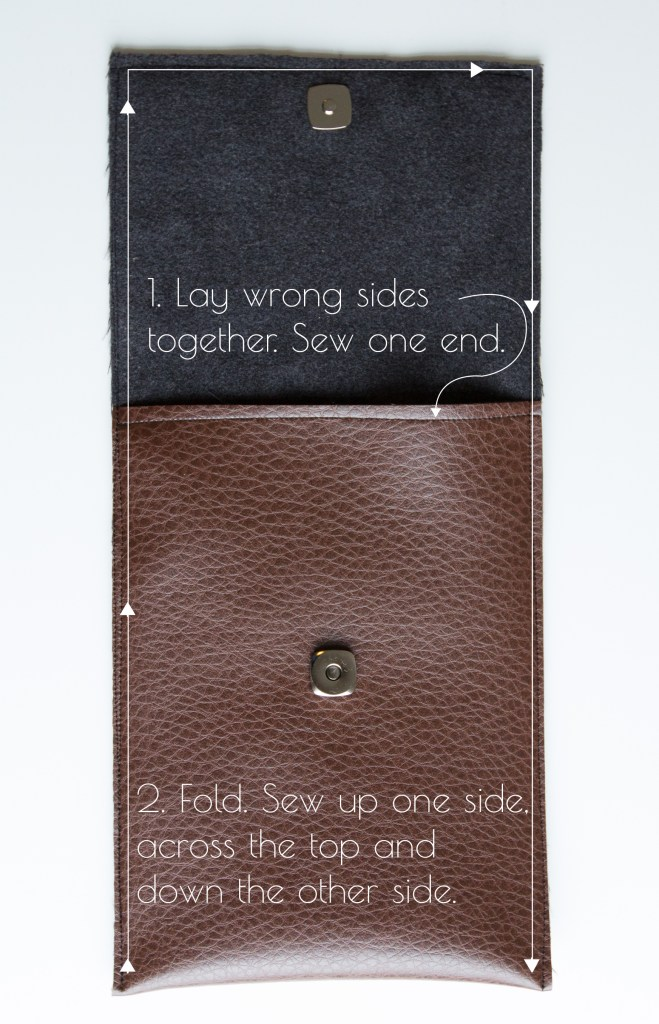 Easy leather tablet cover tutorial