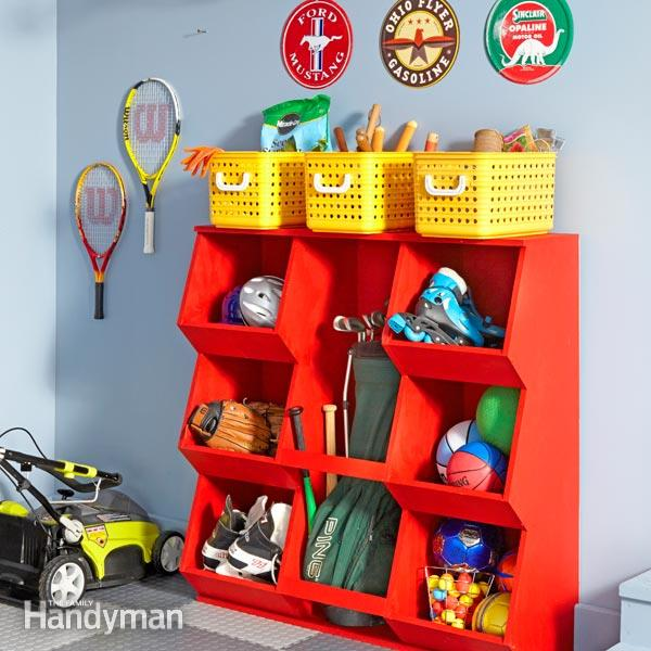 Build your own toy shelf and dozens of other great DIY toy storage solutions