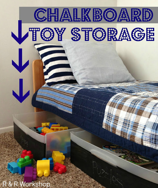 Tons of great DIY toy storage ideas!