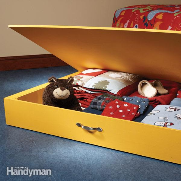 Tons of great DIY toy storage ideas
