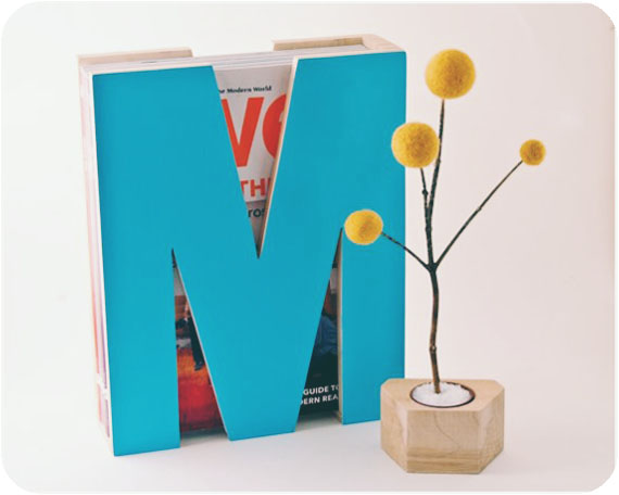 DIY magazine holder and other inexpensive gift ideas!
