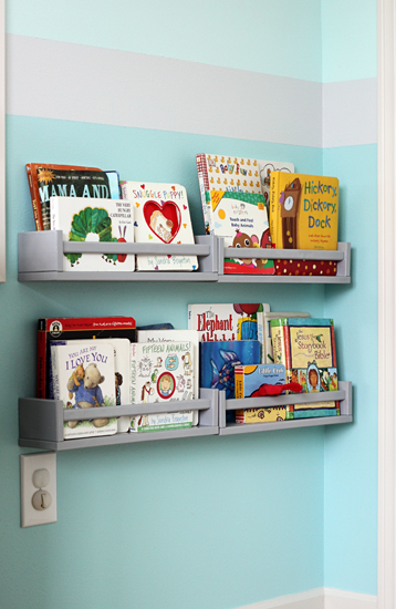 Spice rack book shelves and TONS of other toy storage solutions