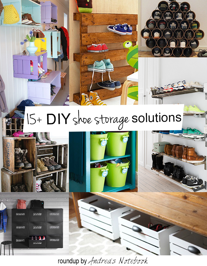 15+ DIY shoe storage and organization ideas for families! These are great!