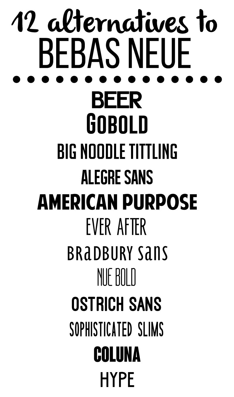 12 alternative fonts to Bebas Neue