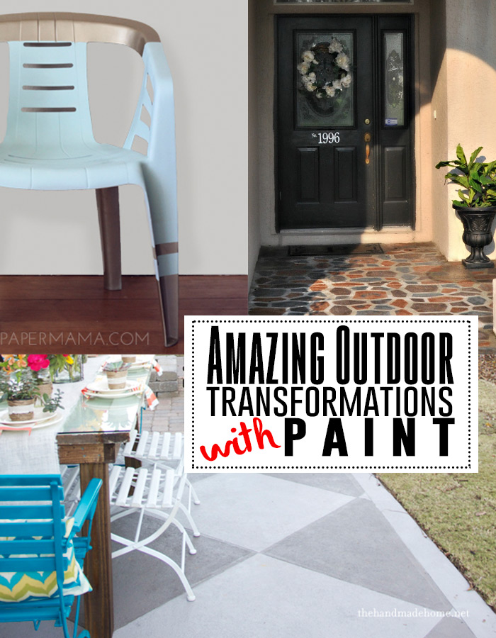Transform your outdoor space with paint! See all these fabulous DIY tutorials!