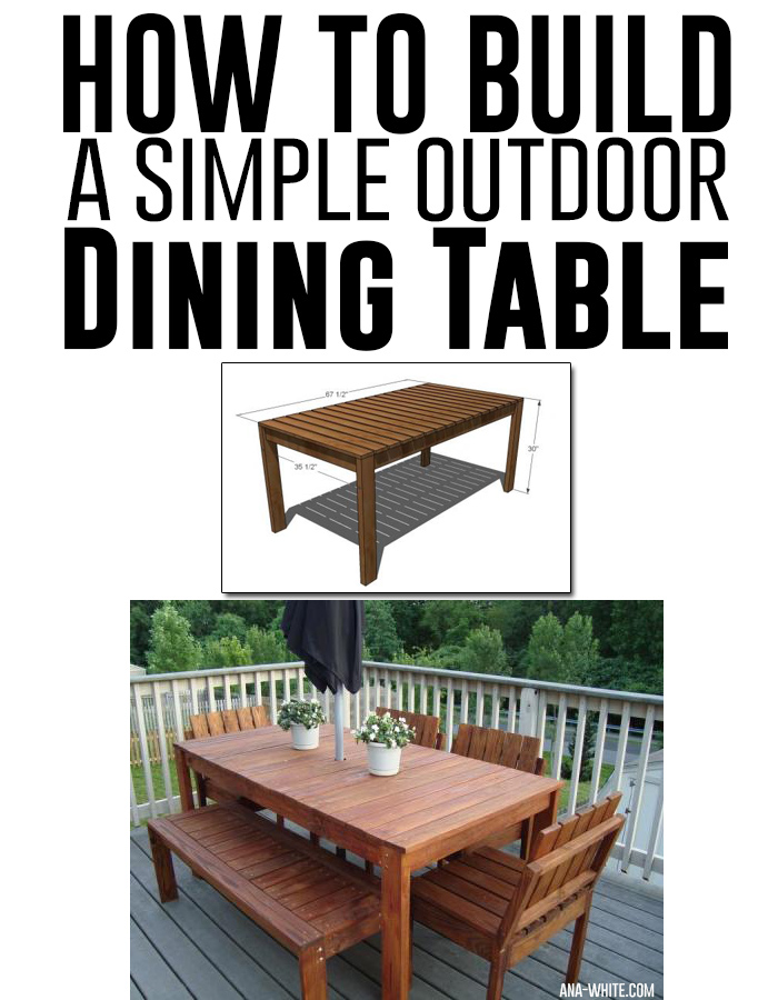 How to build a simple outdoor dining table