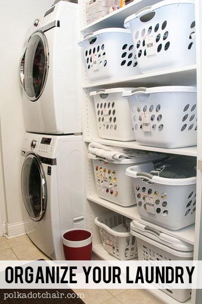 Great ideas to organize your laundry room!