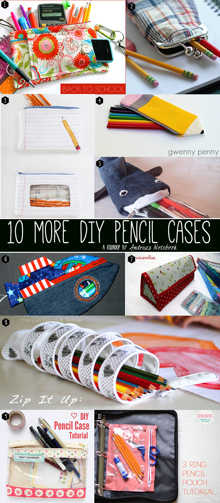 20 DIY pencil pouches