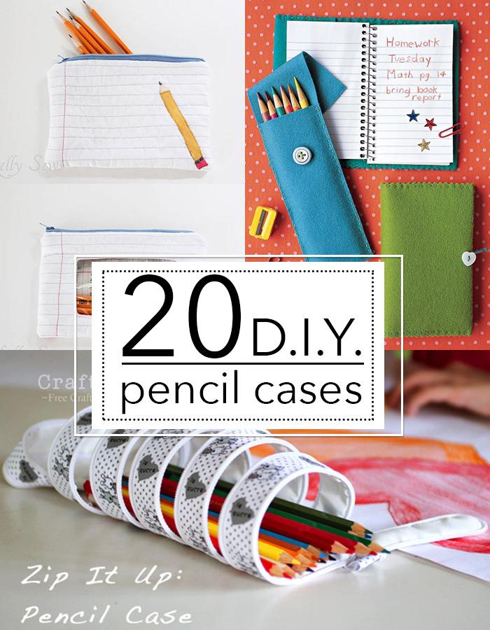20 DIY pencil cases