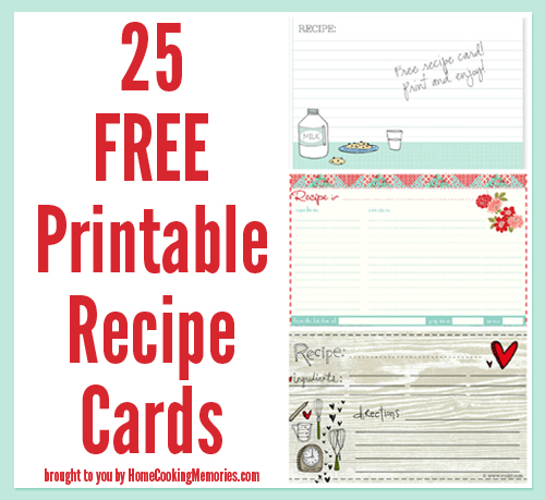 Print your own recipe cards