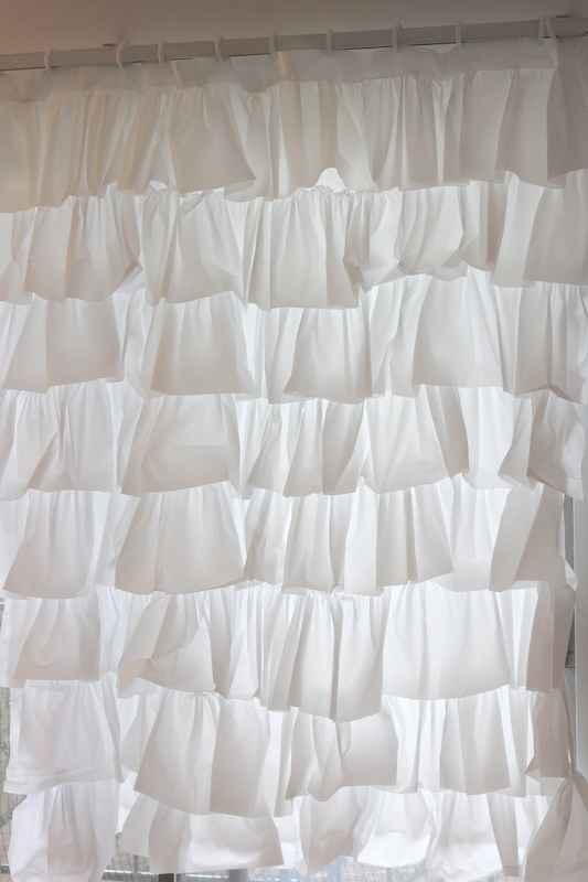 Ruffled shower curtain tutorial