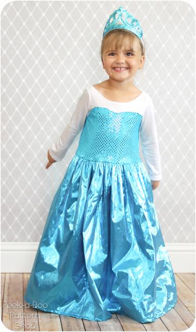 frozen costume elsa dress pattern