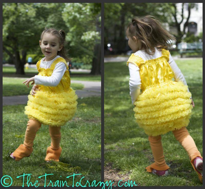 DIY duckling costumes