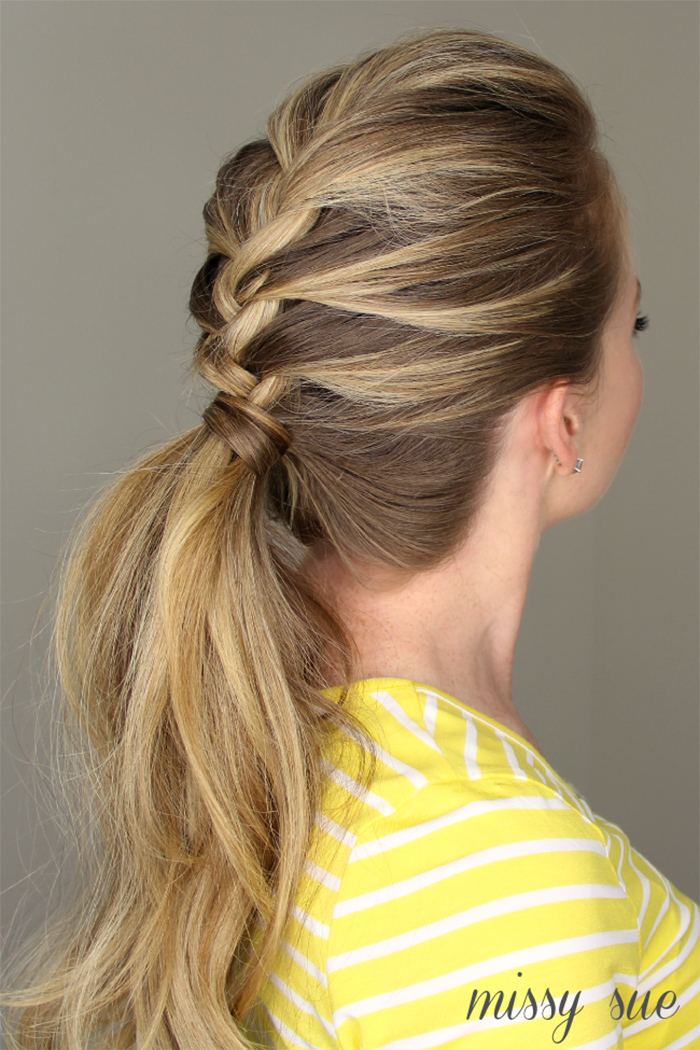 french braid ponytail tutorial