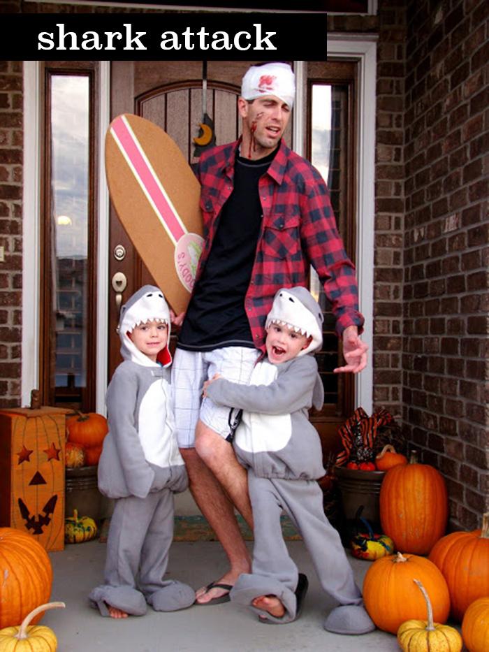 shark attack family costume