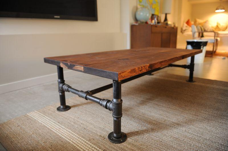 Rustic industrial coffee table tutorial