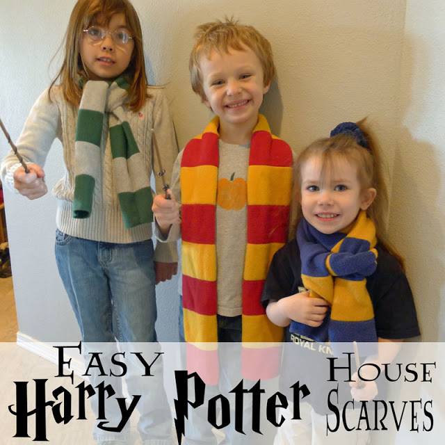 Harry Potter scarves tutorial