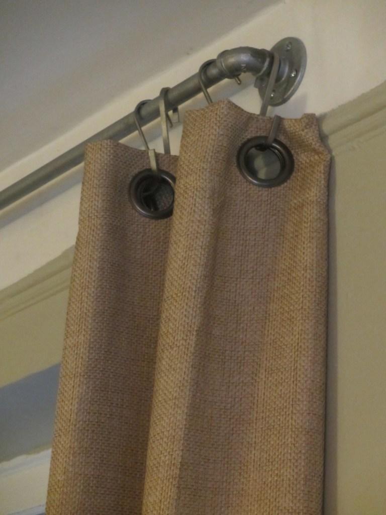 Industrial curtain rod tutorial