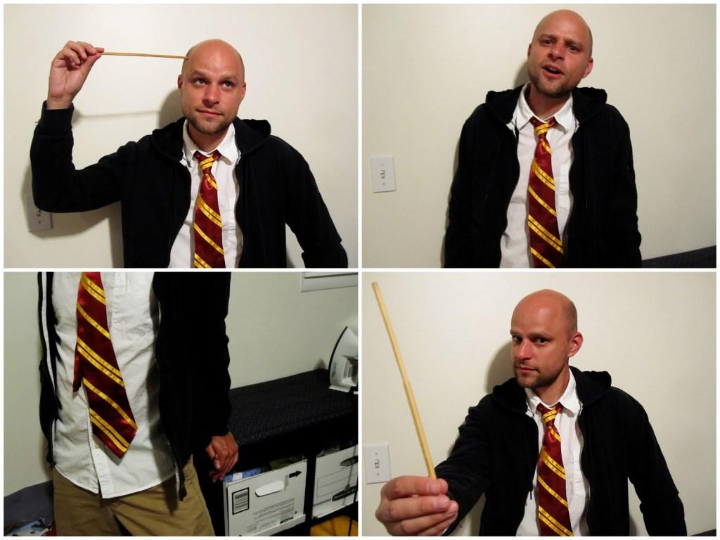 Harry Potter tie tutorial
