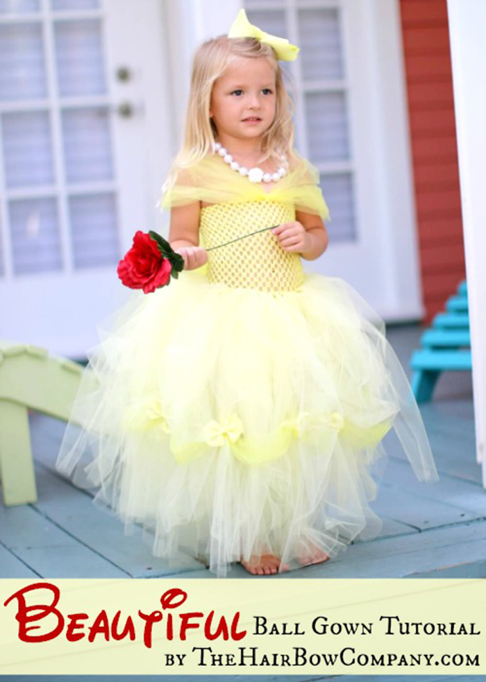 Belle dress tutorial - DIY tutu dress