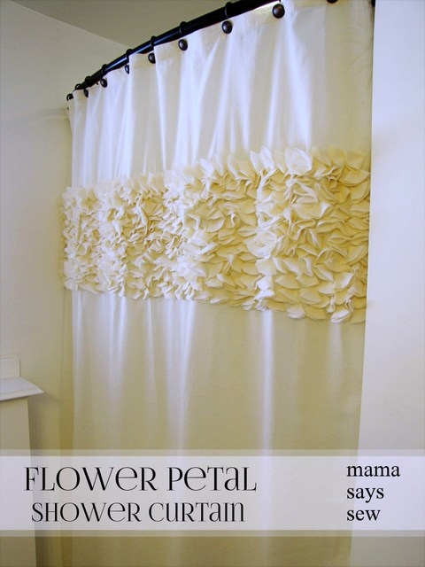 DIY shower curtain tutorial