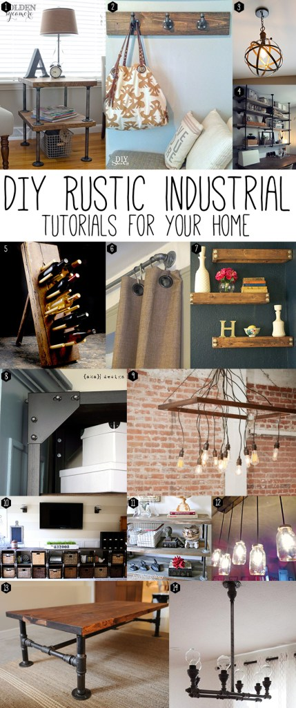 Industrial rustic DIY tutorials for your home!