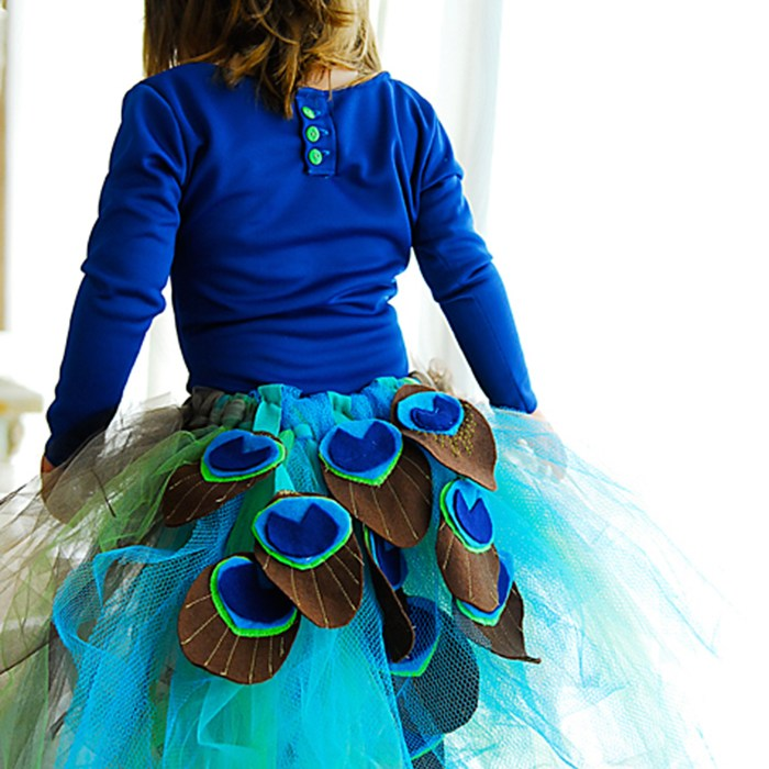 DIY peacock tutu costume tutorial