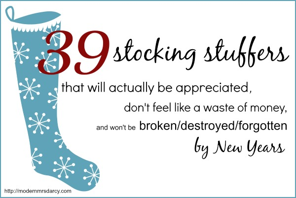 tons of great stocking stuffers