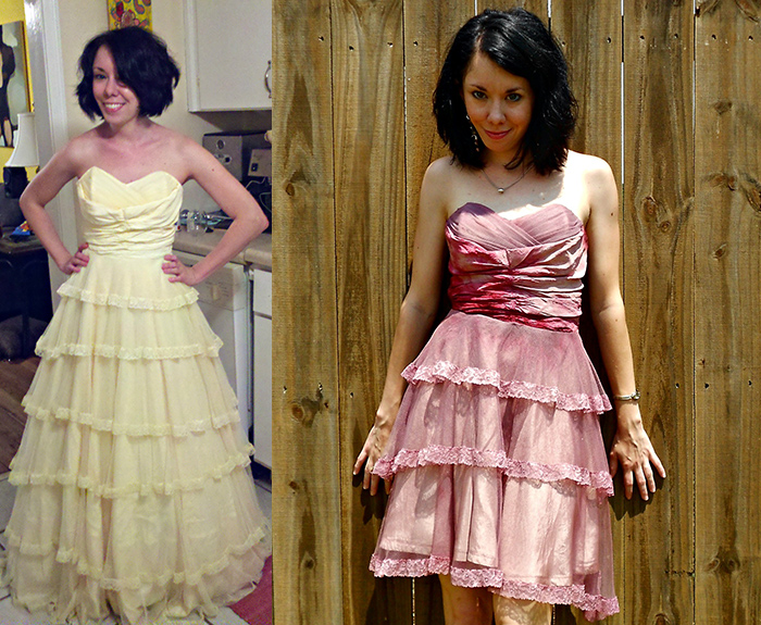 DIY prom dress makeover