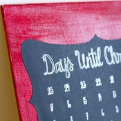 DIY advent chalkboard calendar.