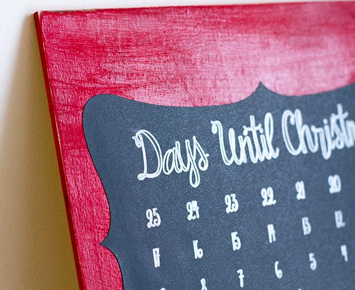 DIY advent chalkboard calendar.