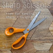 Great hacks to keep scissors sharp