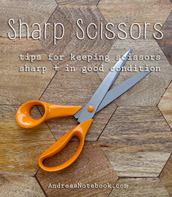 Great hacks to keep scissors sharp