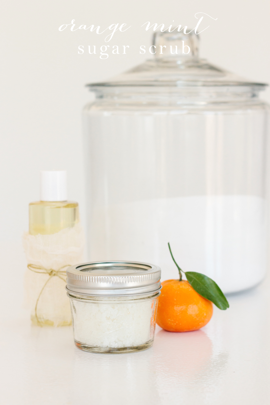 DIY orange sugar scrub