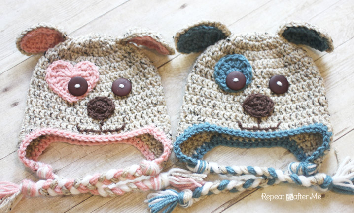 Lots of adorable crochet hat patterns for girls & boys