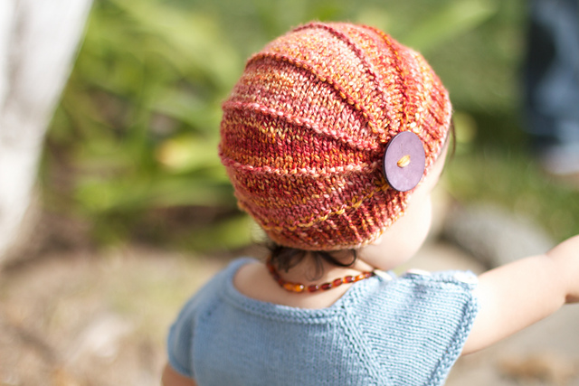 Adorable knit hat pattern
