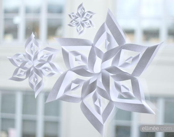 Gorgeous snowflake! Free template!