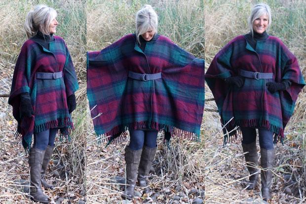 DIY blanket scarf tutorial